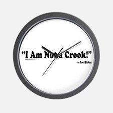 Not a Crook Wall Clock