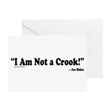 Not a Crook Greeting Card