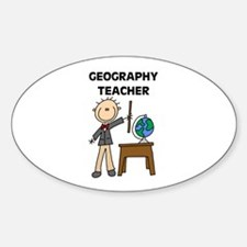 Geography Teacher Oval Decal