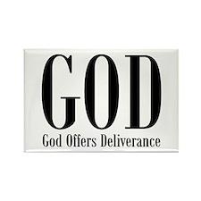 GOD offers Deliverance Rectangle Magnet