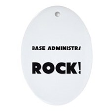 Database Administrators ROCK Oval Ornament