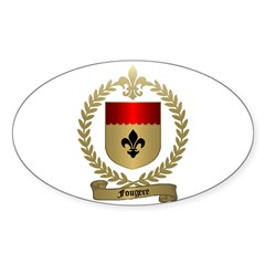 FOUGERE Family Crest Oval Decal