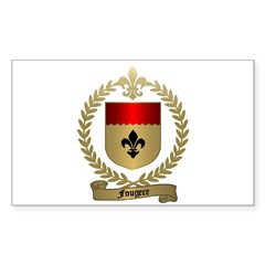 FOUGERE Family Crest Rectangle Decal