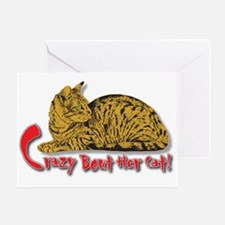 Crazy Bout Her Cat! Greeting Card