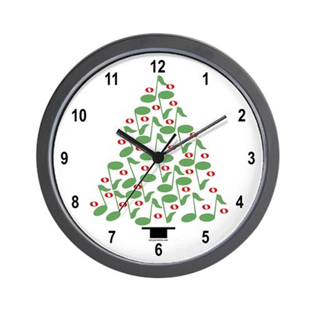 musical tree wall clock by not just shirts