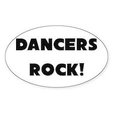 Dancers ROCK Oval Decal
