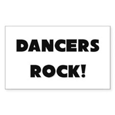 Dancers ROCK Rectangle Decal