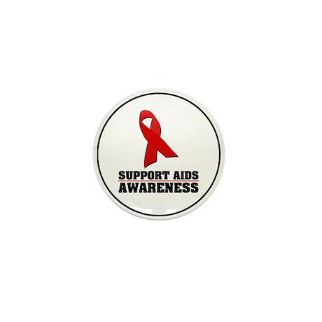 AIDS Awareness Mini Button (100 pack)