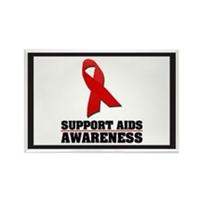 AIDS Awareness Rectangle Magnet