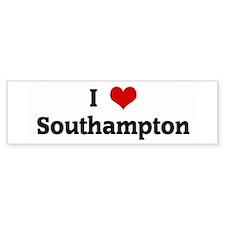 I Love Southampton Bumper Bumper Sticker