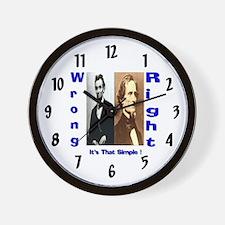 Wrong and Right Wall Clock