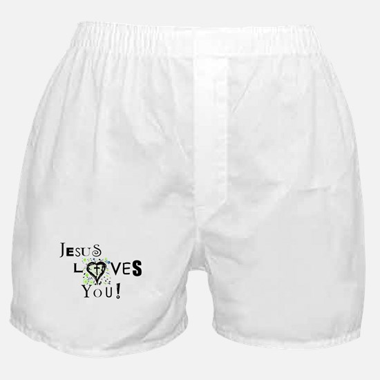 Jesus Loves You Boxer Shorts