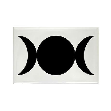 Tripple Moon Goddess Rectangle Magnet (100 pack)