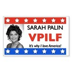 SARAH LOVE AMERICA VPILF Rectangle Sticker