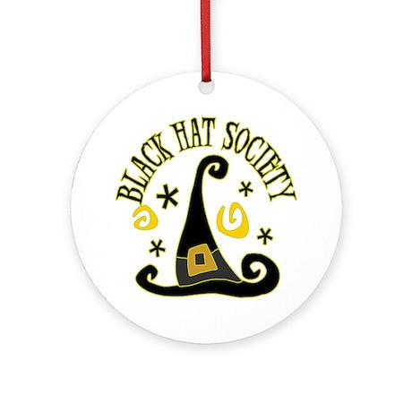 Black Hat Society Ornament (Round)