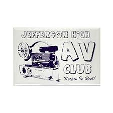 AV Club - Keepin It Reel! Rectangle Magnet