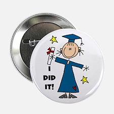 "Girl Graduate 2.25"" Button (10 pack)"