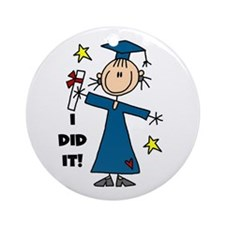 Girl Graduate Ornament (Round)