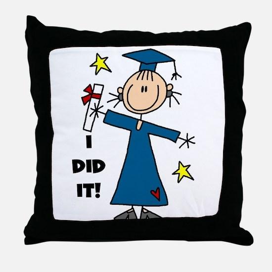 Girl Graduate Throw Pillow