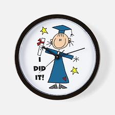 Girl Graduate Wall Clock