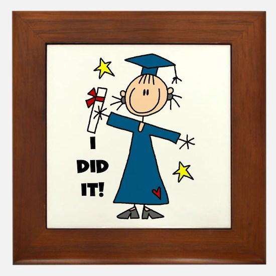 Girl Graduate Framed Tile