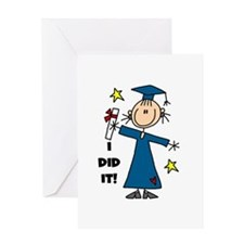 Girl Graduate Greeting Card