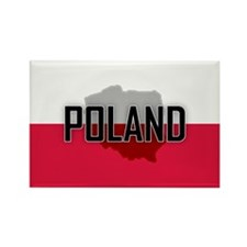 Flag of Poland Extra Rectangle Magnet (10 pack)