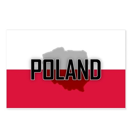 Flag of Poland Extra Postcards (Package of 8)