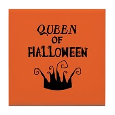 Queen of Halloween Tile Coaster