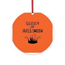 Queen of Halloween Ornament (Round)