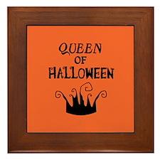 Queen of Halloween Framed Tile