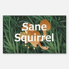 Sane Squirrel Rectangle Decal