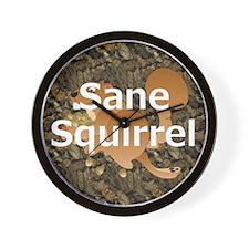 Sane Squirrel Wall Clock