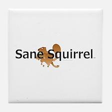 Sane Squirrel Tile Coaster