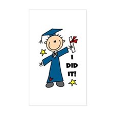 Boy Graduate Rectangle Decal