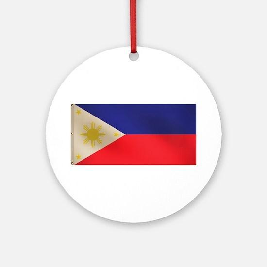 Filipino flag Ornament (Round)