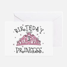 Tiara Birthday Princess 3rd Greeting Card