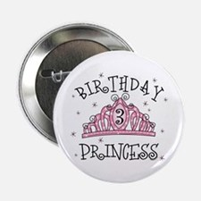 "Tiara Birthday Princess 3rd 2.25"" Button"