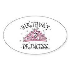 Tiara Birthday Princess 3rd Oval Decal