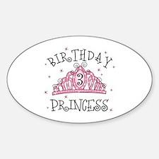 Tiara Birthday Princess 3rd Oval Decal