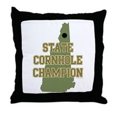 New Hampshire State Cornhole Throw Pillow