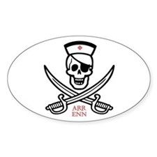 Arr Enn Rackham Oval Decal
