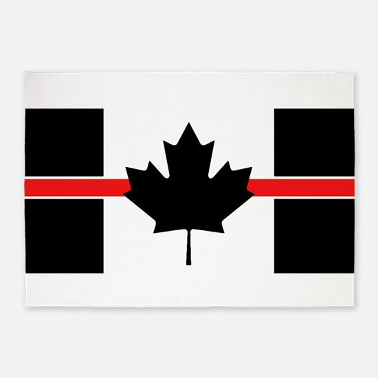 Canadian Firefighter: Thin Red Line 5'x7'Area Rug