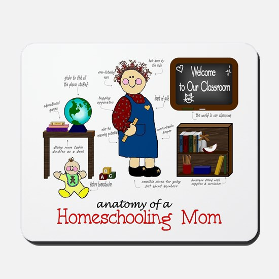 Homeschool Mom Anatomy Mousepad