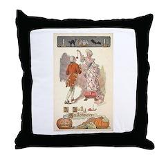Jolly Halloween Throw Pillow