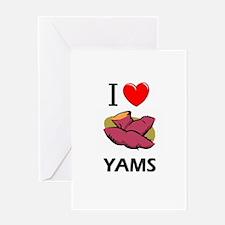 I Love Yams Greeting Card