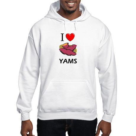 I Love Yams Hooded Sweatshirt