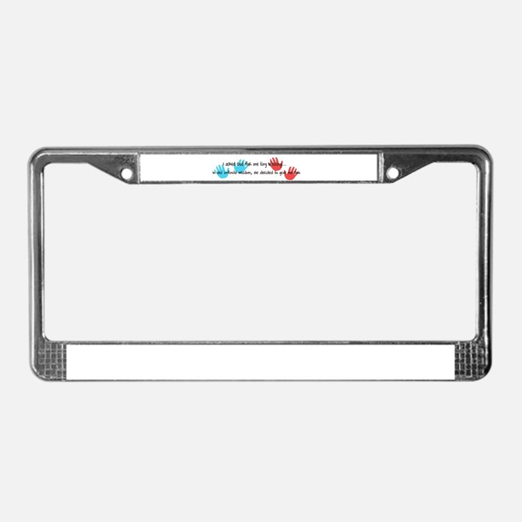 Twins Blessings License Plate Frame