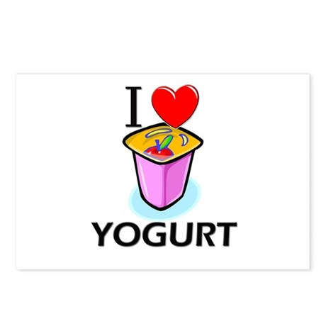 I Love Yogurt Postcards (Package of 8)