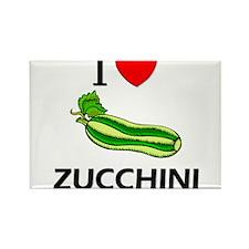I Love Zucchini Rectangle Magnet